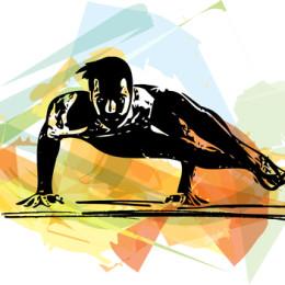 Yoga man illustration